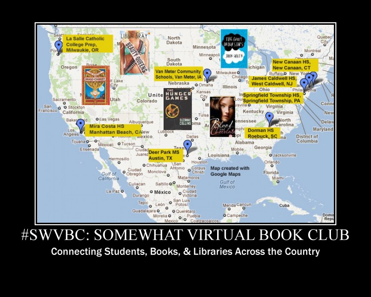Somewhat Virtual Book Club Map