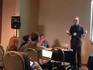 Ben Dale (right) & Ian Drummond (left) presenting at CUE Conference