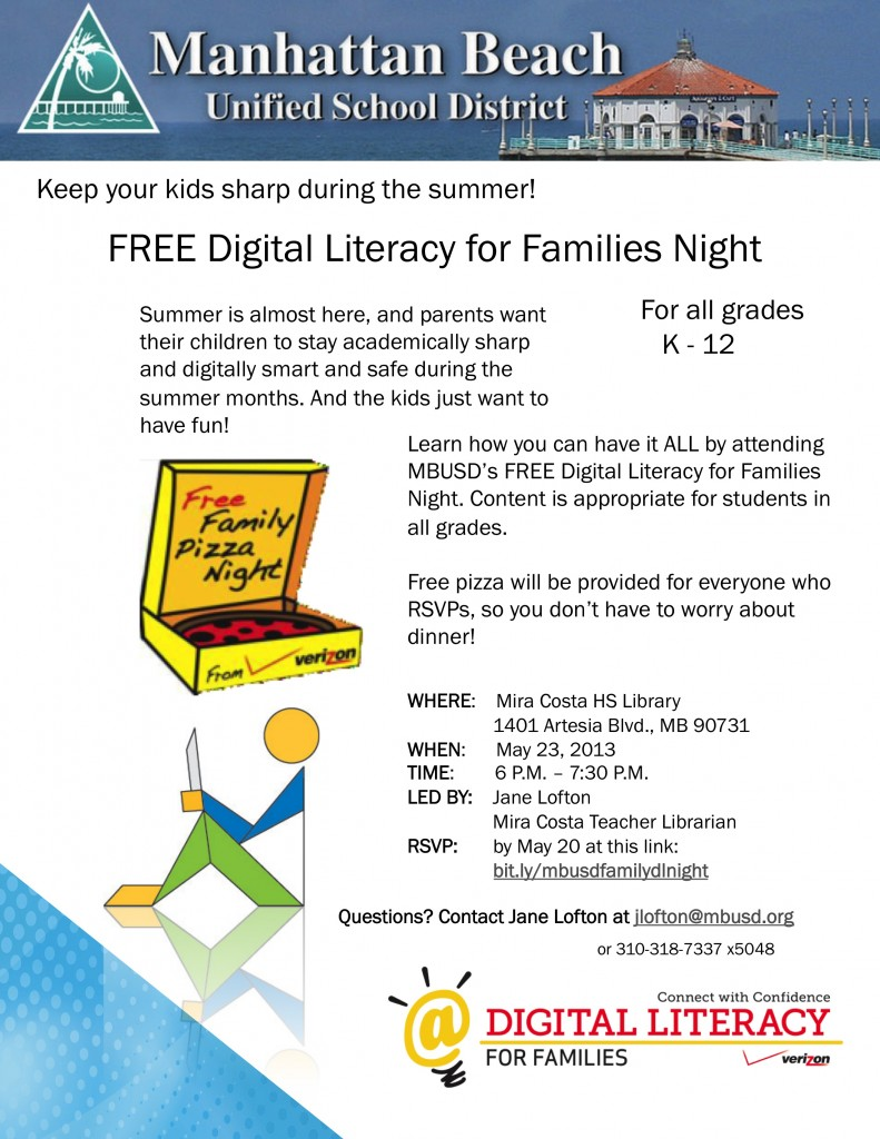 Family Digital Literacy Night Flyer