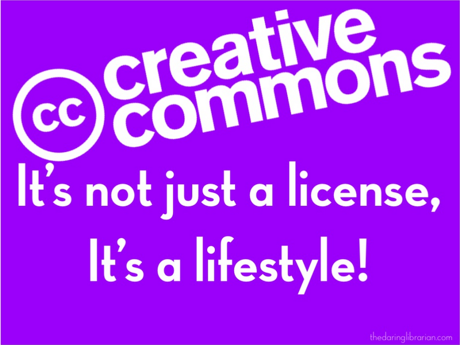 creative commons message from gwyneth jones
