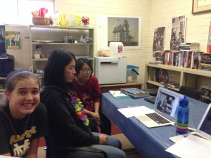 Some Library Club members during our October 3 Hangout