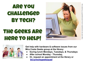 Are you challenged by a tech issue-