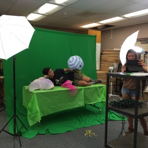 Shooting a green screen scene